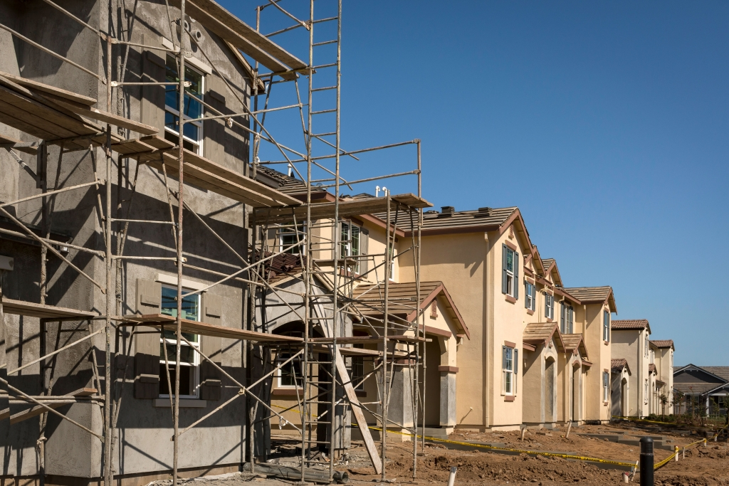Houses being built in california